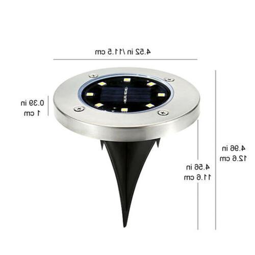 8LED Solar Ground Deck Path