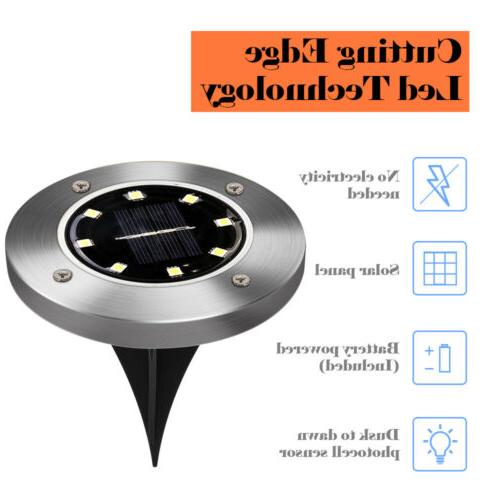 8LED Ground Deck Path Outdoor