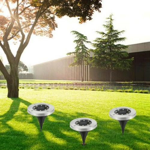 1Pack Solar Lights 8LEDs Waterproof In-Ground