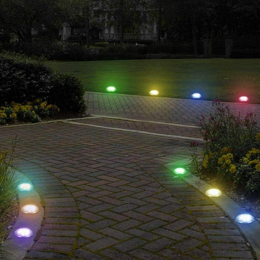 8x Disk Lights Outdoor Garden