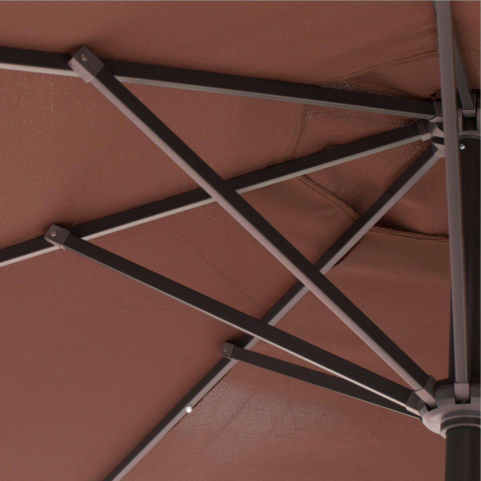 9'FT Solar LED Lights Patio Garden Outdoor / Base