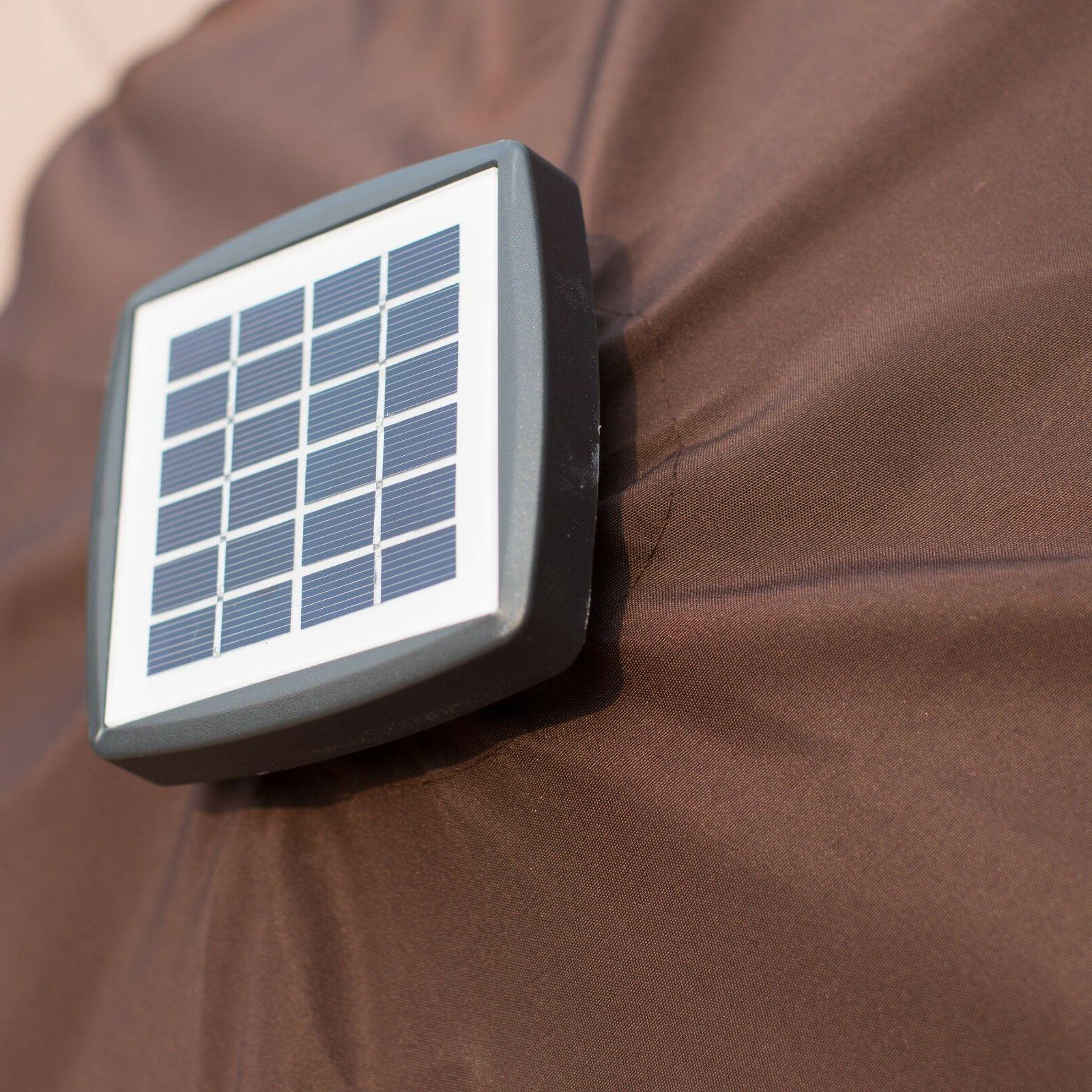 9'FT Solar Lights Outdoor Sunshade / Base