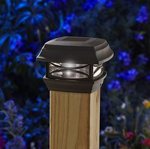 Moonrays LED 4-Inch by 4-Inch Post, Black