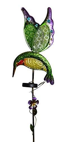 Moonrays 91442 Solar Powered White LED Hummingbird Stake Lig