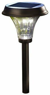 Moonrays 91754 Richmond Solar LED Metal Path Light, Rubbed B