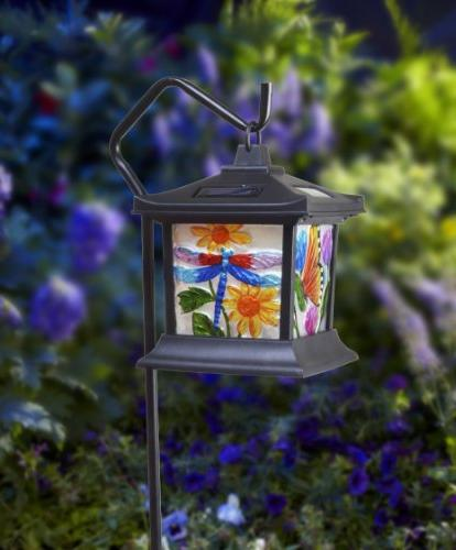 Moonrays Powered LED Floral Stained Light
