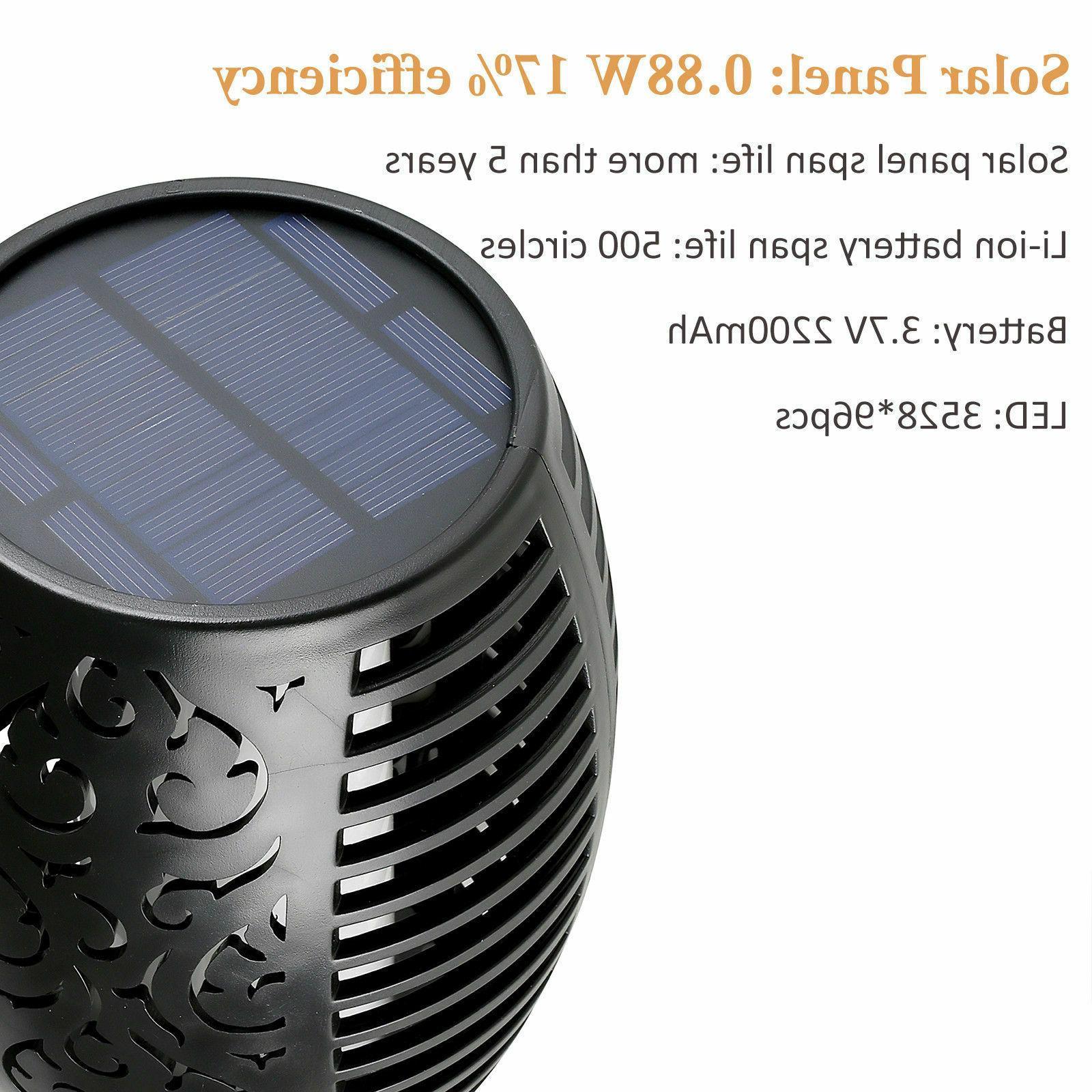 96 Solar Flickering Lamp 2 Pack
