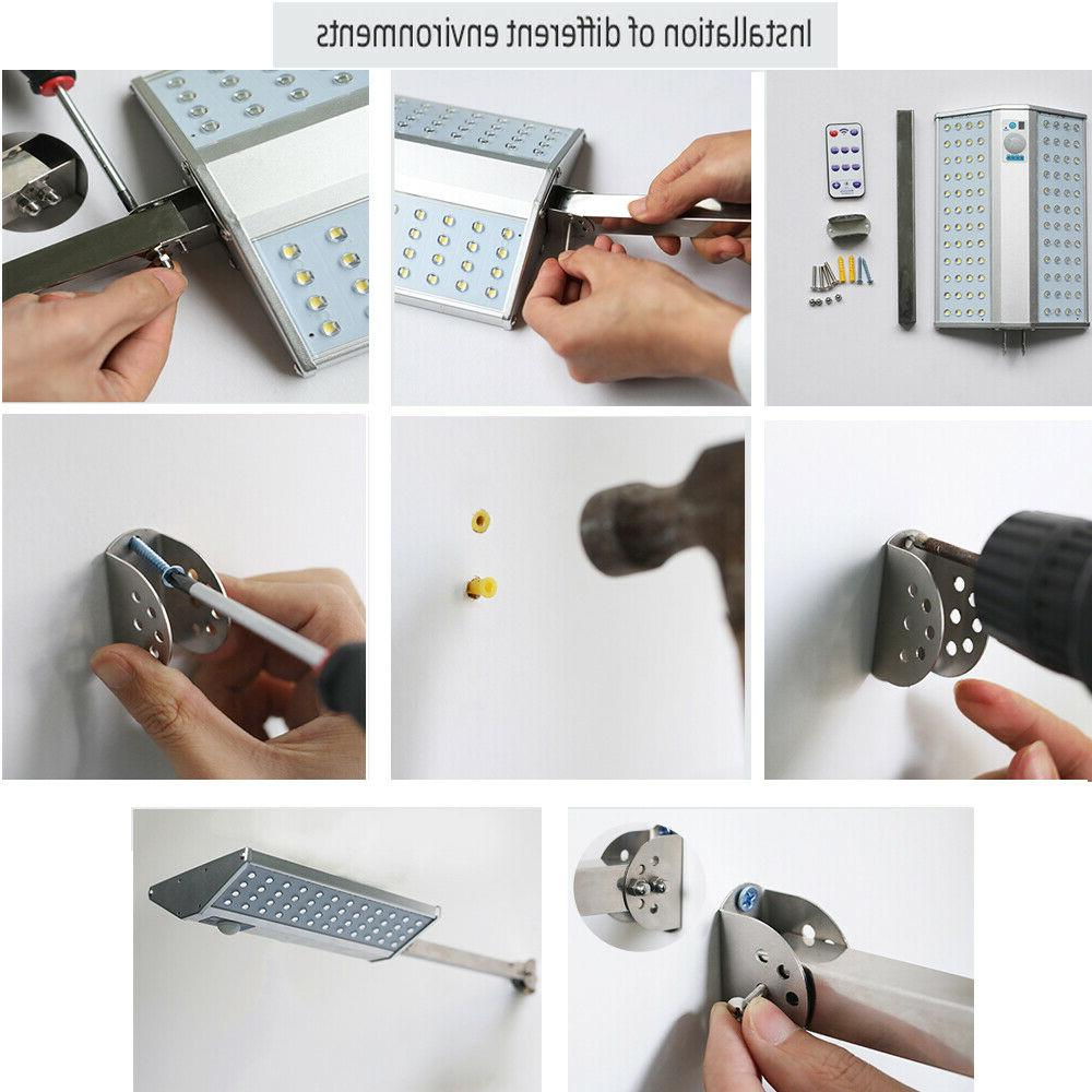 96 LED Solar Outdoor with Mounting Remote