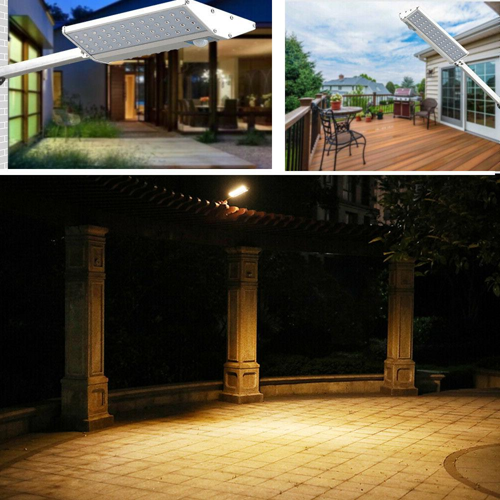 96 Solar Lights Outdoor Gutter Wall with Mounting Pole Remote