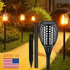 2 Pack 96 LED Waterproof Flickering Flame Solar Torch Light