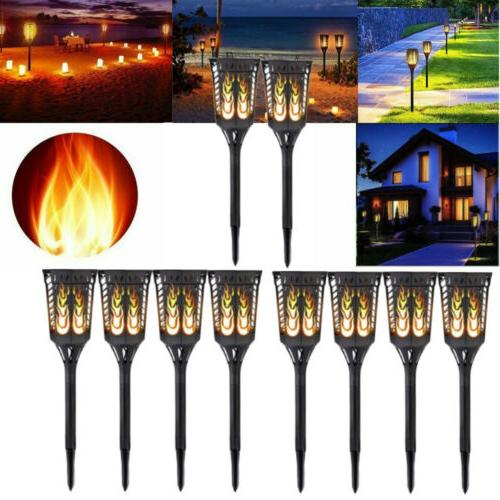 96led waterproof solar tiki torch light dancing