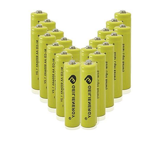 AA Rechargeable NiCd Batteries, NICD AA 600mAh 1.2V Recharge