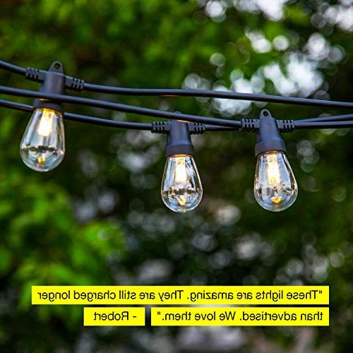 Brightech Ambience Waterproof String Lights 1W - 27 Duty Cafe Ambience Porch