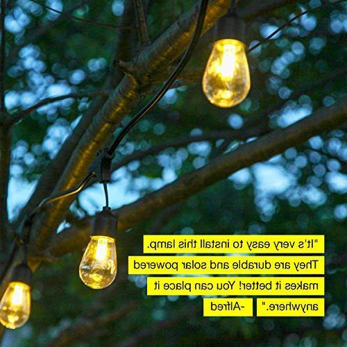 Brightech Ambience Pro - Waterproof LED String 2W Edison - Ft Duty Create Cafe Backyard