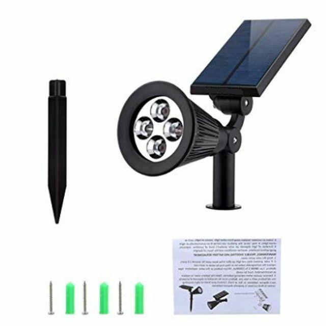 automatic solar powered night light bright 200