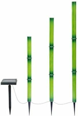 bamboo green solar led lights 3 pack