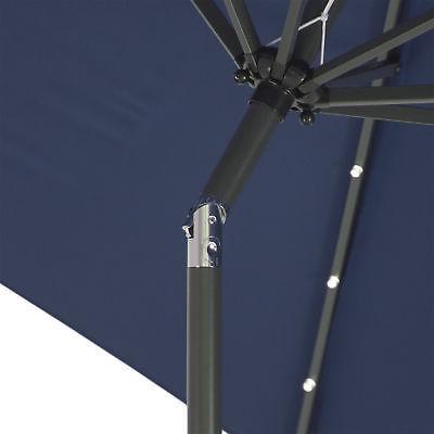 BCP 10ft Lighted Patio Tilt Adjustment,