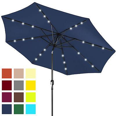 bcp 10ft solar led lighted patio umbrella