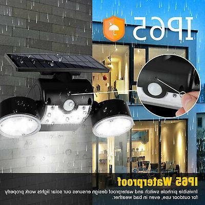 Outdoor Solar Power Sensor Garden 30 LED PIR Lamp