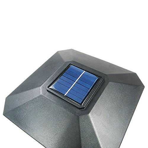 iGlow 1 Pack Black Outdoor 6 Solar SMD Post Deck Fence Lamp PVC Vinyl Wood