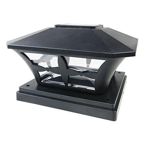 black garden solar smd post