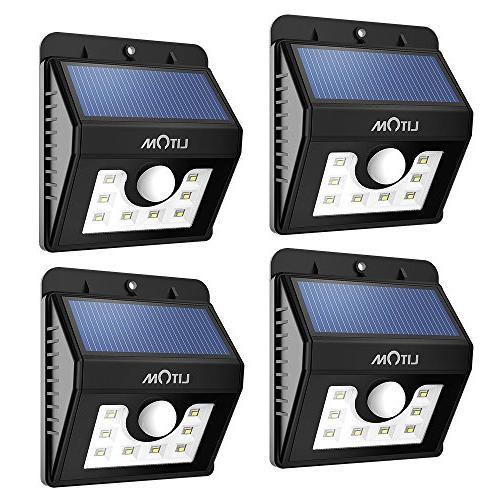 bright 8led solar power lights