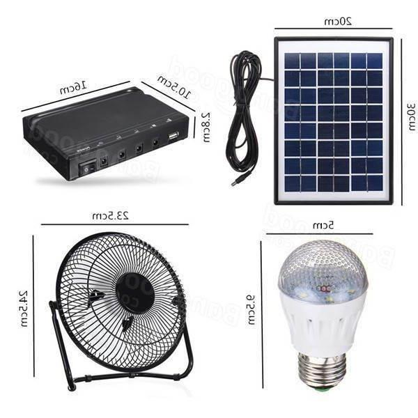CAMPING LIGHT SOLAR POWER WITH FAN LED LIGHT TABLE TOP POW