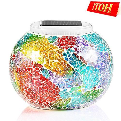 Pandawill Changing Solar Powered Ball Garden Lights, Table Lights, Solar Night Lights Lamps Decorations, Ideal Gifts