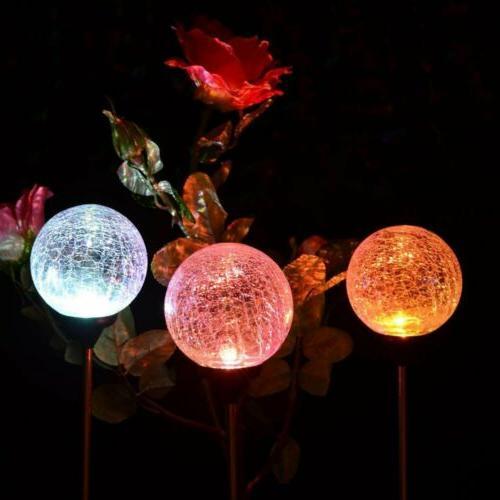 GIGALUMI Christmas Garden 3 Cracked Glass Ball Solar