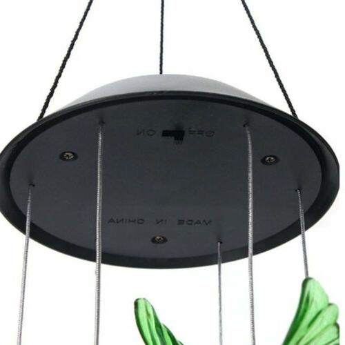 Color-Changing Solar Powered Hummingbird Lights Yard Decor