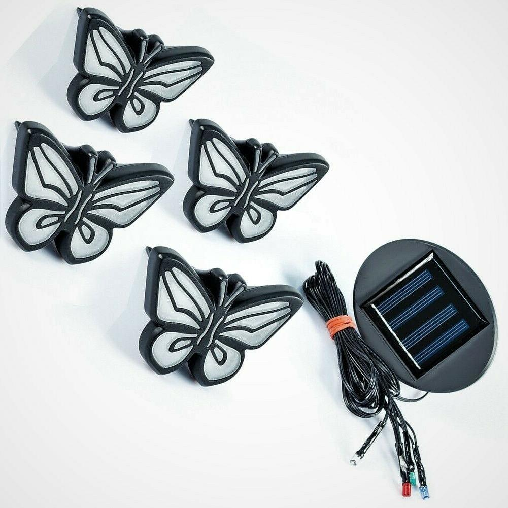Colorful Butterfly Garden Path Solar Set 4