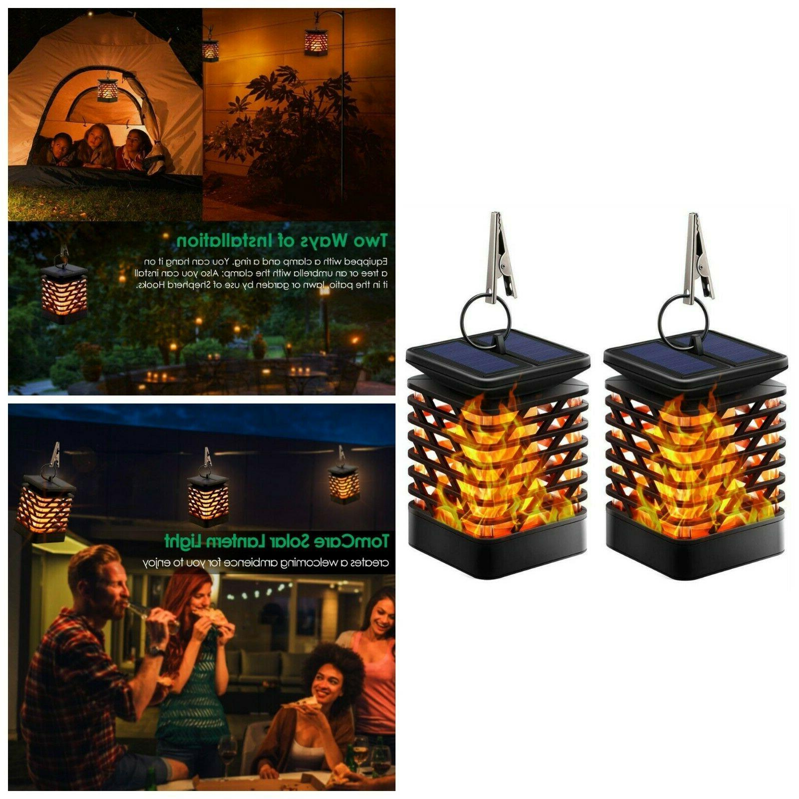Dancing Flame Lanterns Outdoor Hanging Solar Night Light Wat