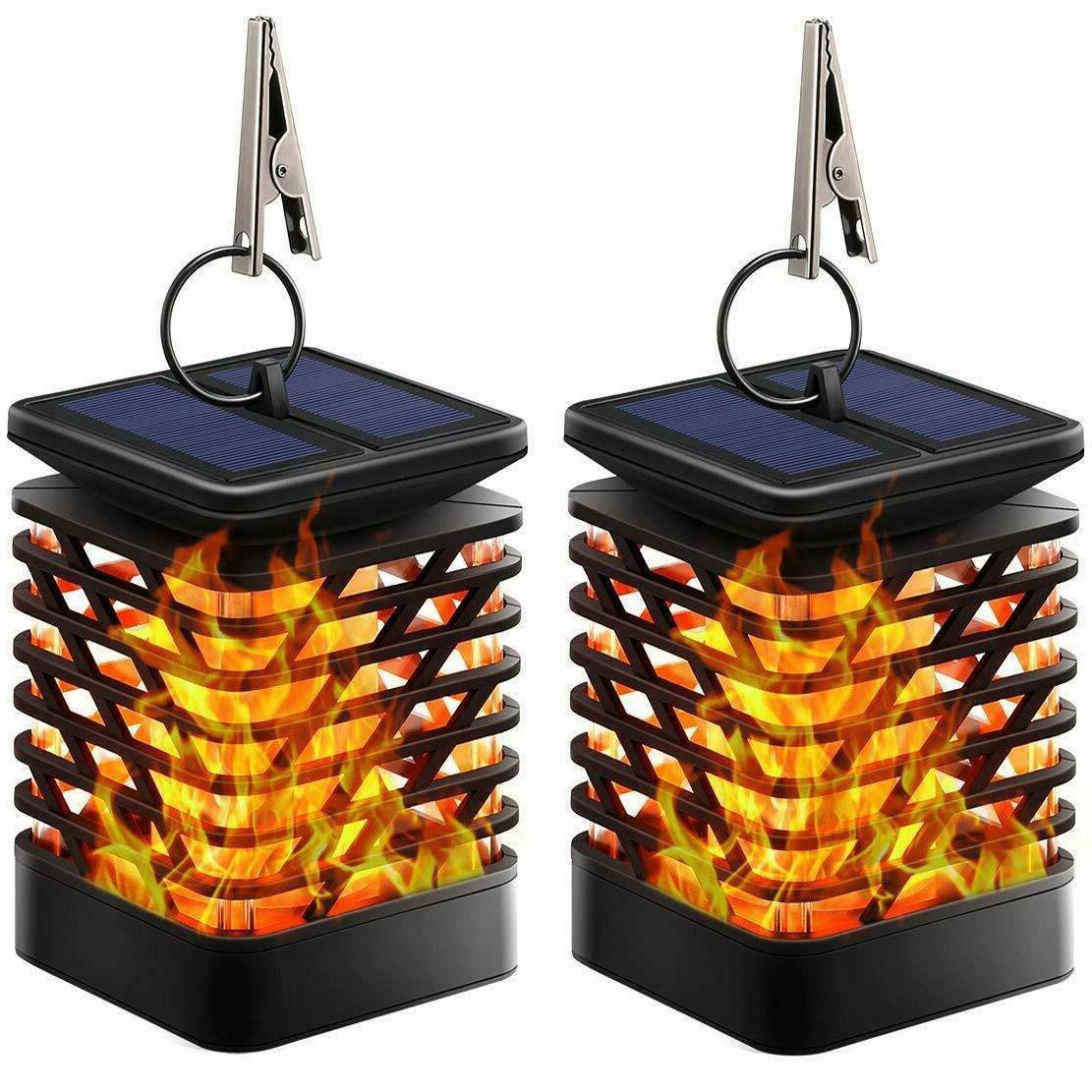 TomCare Solar Lights Solar Lanterns Dancing Flame Outdoor Ha