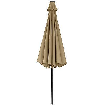 10' Lighted Patio Umbrella With Tilt