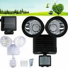 Dual Security Solar Powered Motion Sensor 22 60 100 LED Ligh
