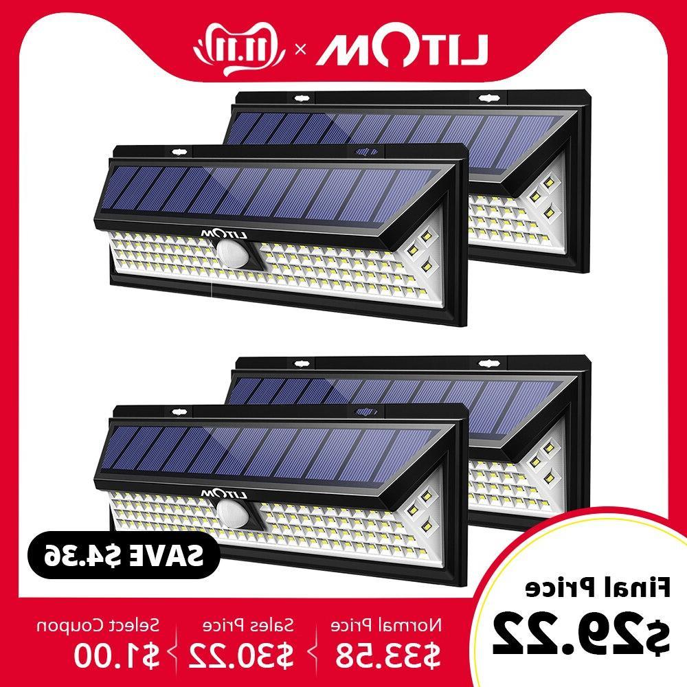 Litom Cd126 120w Solar Lights Outdoor Motion Sensor