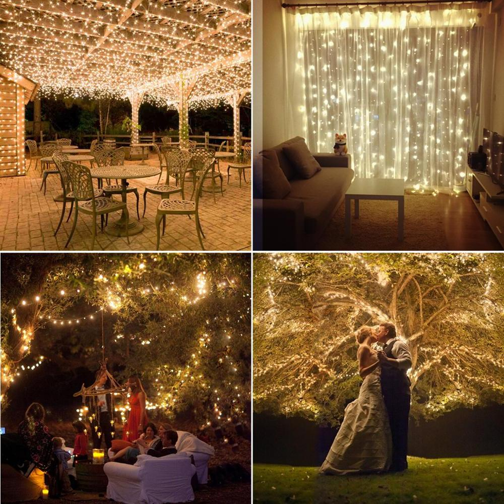 <font><b>AMIR</b></font> <font><b>Solar</b></font> String Copper Holiday Garland Christmas Home