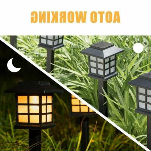 Solar LED Spot Wall Lights Garden Outdoor Lamps US