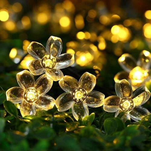 Qedertek Garden Solar String Lights,22.96ft 50 LED Fairy Blo