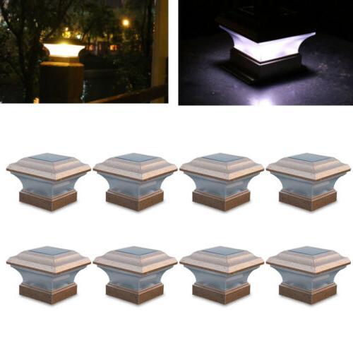 Generic Copper Tone Post Lamps Sun Powered 6/8 Walkway/Outdoor