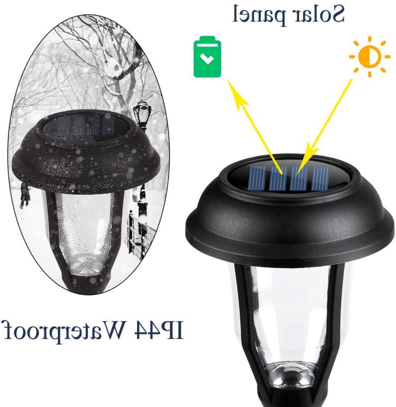 GIGALUMI Solar Pathway Outdoor LED Solar Garden Lights