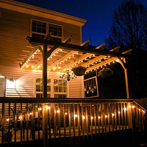Qedertek Globe Solar String 30 Outdoor Gazebo, and Holiday Decorations