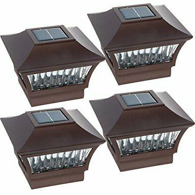 GreenLighting Aluminum Solar Post Cap Light 4x4 Wood or 5x5
