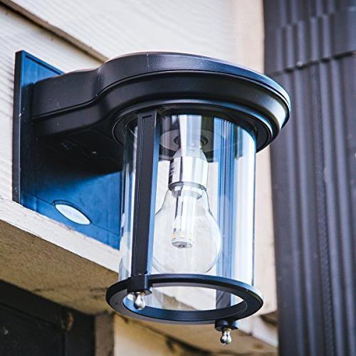 Gama Sonic Lantern Outdoor Solar Fixture, Warm
