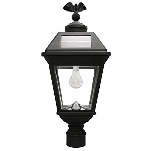 "Bulb Solar Lamp, 3"" Mount, (Warm Black"