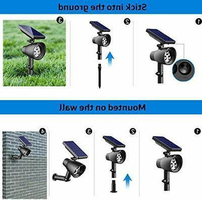 InnoGear Waterproof 3 LED Solar Spotlights Adjustable Wall