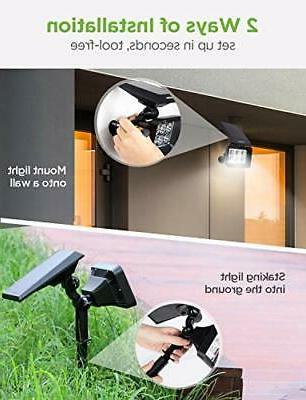 InnoGear Solar 6 LED Solar Spotlights 2-in-1 IP65