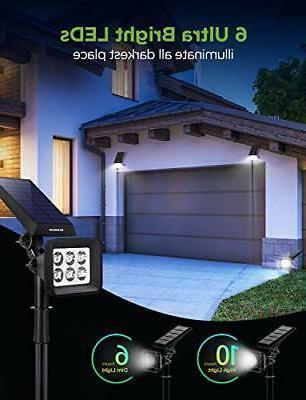InnoGear Solar Lights 6 LED Spotlights 2-in-1