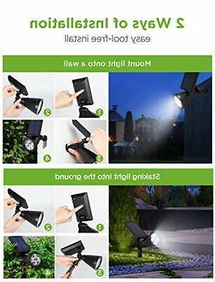 InnoGear Solar Lights Outdoor, Upgraded Solar Powered White
