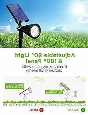 InnoGear Solar Outdoor, Upgraded Waterproof Powered White